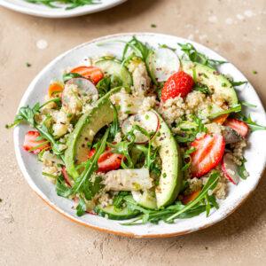 Salade sucrée salée aux Asperges des Sables des Landes IGP